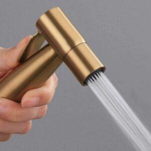 gold bidet spray toilet attachment